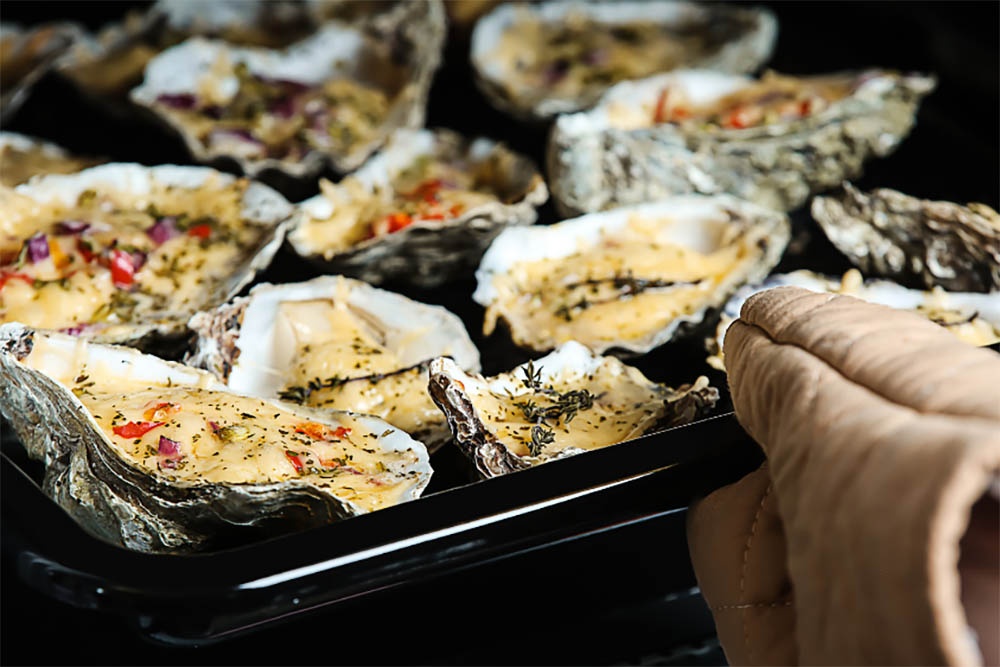 Oyster in Oven